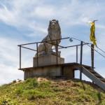 in de omgeving van Eyndevelde staat de privé leeuw van Waterloo
