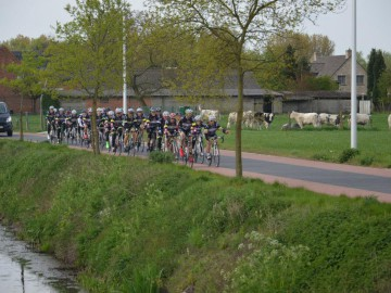 Fietsen in de groene omgeving van de Vlaamse Ardennen en Eyndevelde